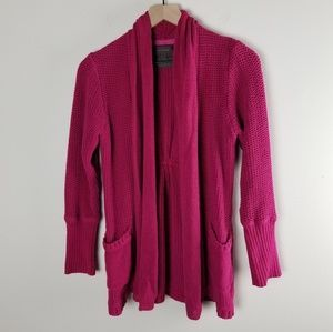 Guinevere Anthro Pink Knit Sweater Cardigan
